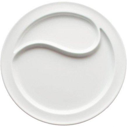 Talíř steakový, 28,5 cm, dělený, masivní provedení, hladký, WALKÜRE