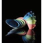 Talíř mělký 19 cm Daisy aquamarin Lilien