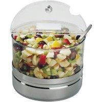servírovacia chladiaca miska 4 l, 4-dielna sada, šalát, lekváry a ovocie, nerez plast, chladenie, pre bufet, Top Fresh Maxi, APS