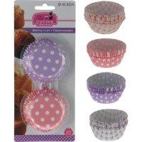 Papírové košíčky na muffiny 100 ks, 2 různé barvy