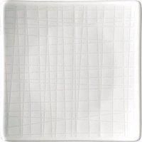 Talíř čtvercový Rosenthal Mesh 9x9 cm, bílá